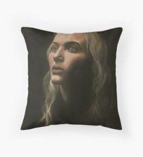 """Kate"" Portrait in Oils Throw Pillow"