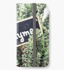 Thyme iPhone Wallet/Case/Skin