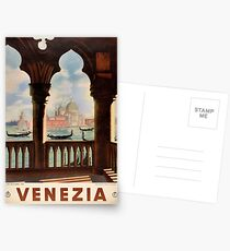 Venice Venezia Vintage Travel Poster Restored Postcards