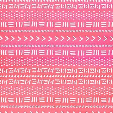 Boho rosa patrón de rayas de blueskywhimsy