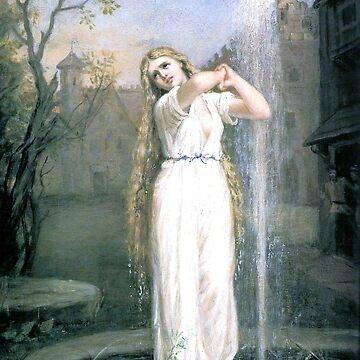 Undine - John William Waterhouse - 1872 von justonedesign