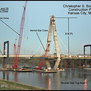 "Christopher S. ""Kit"" Bond I-29/35 Bridge Construction Project by TeeMack"