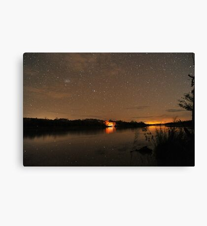 Camping Under the Stars 2 Canvas Print