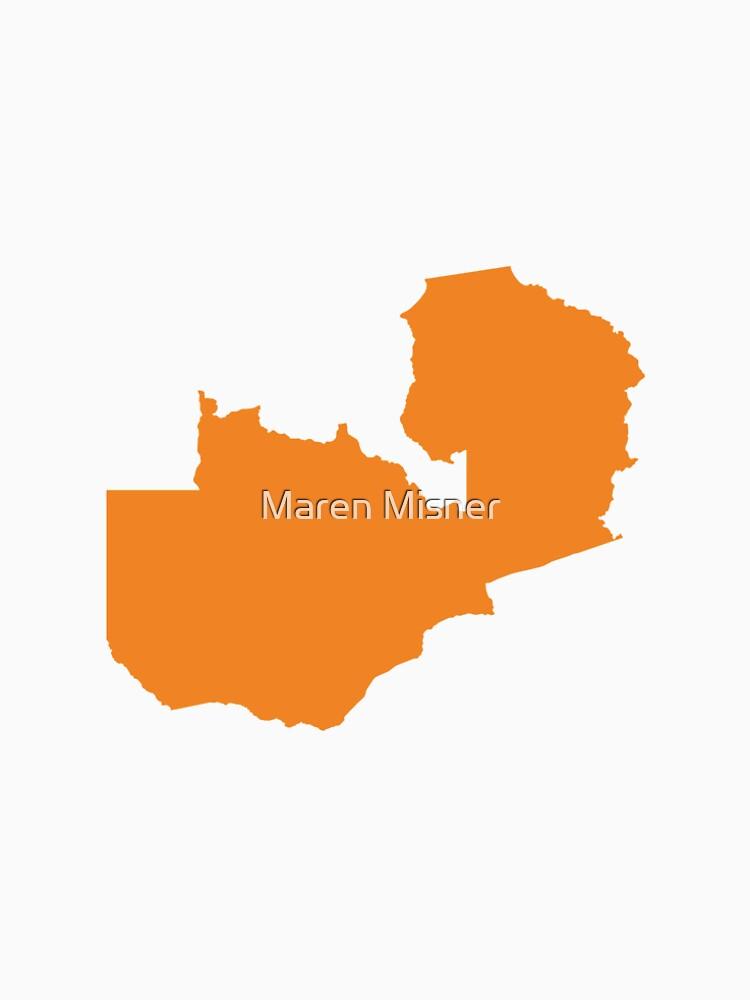 Sambia Love in Orange von marenmisner