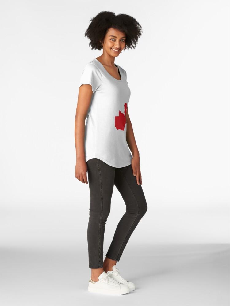 Alternative Ansicht von Sambia Love in Rot Premium Rundhals-Shirt