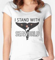 Ich stehe mit SeaWorld Tailliertes Rundhals-Shirt