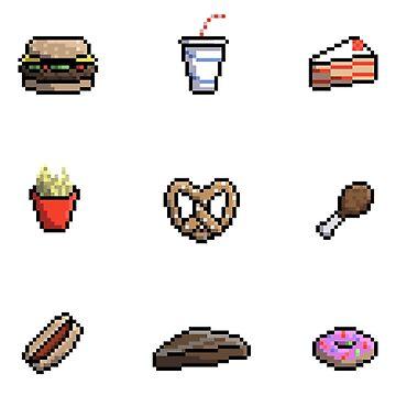 Pixel Food by Zeeph