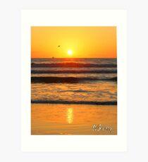 Beach art ... be8 Art Print