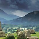 Morning Mist over the Cumbrian Mountains by RodneyCleasby