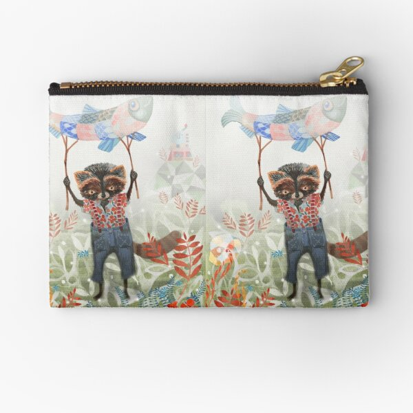 Mr Raccoon Zipper Pouch