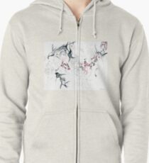 Your Brain on Surrealism Zipped Hoodie