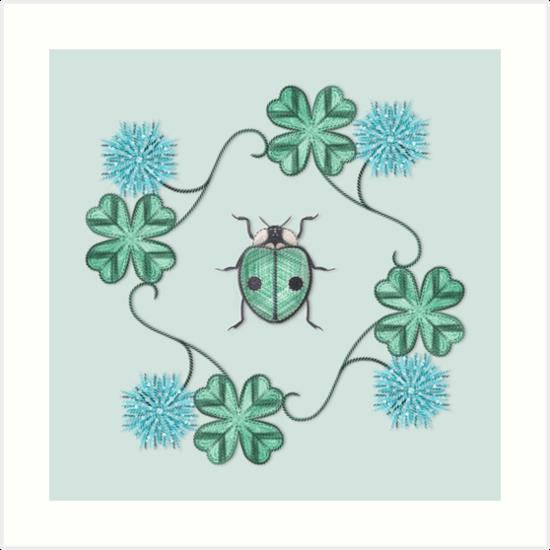 LadyBug Clovers - Emeraude by Sunflow