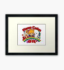 Keep Calm & Rainbow On (Light) Framed Print