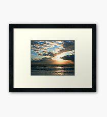 Beach art ... be16 Framed Print