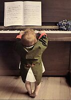 Baby Piano by Christine  Wilson
