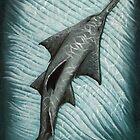 """Sawfish"" by Amber Marine ~ Acrylic painting, art © 2015 by Amber Marine ~ Wildlife Artist ~ © 2004-2019"