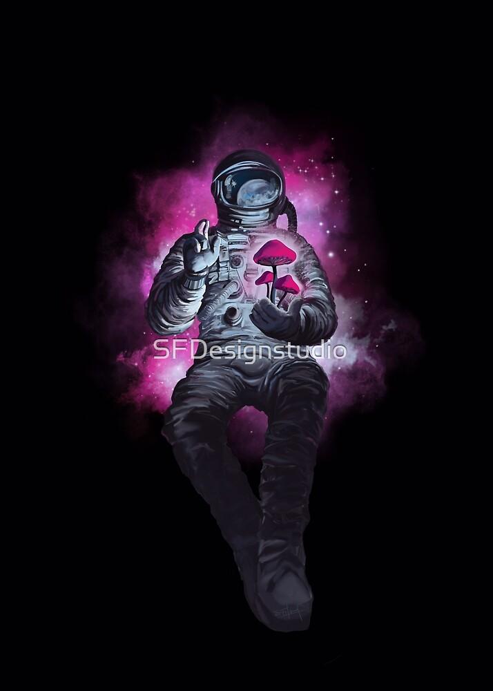«Psilocibina cosmonauta, viajero espacial.» de SFDesignstudio
