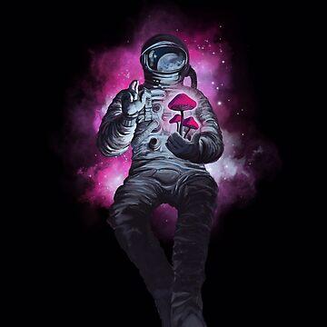 Psilocibina cosmonauta, viajero espacial. de SFDesignstudio