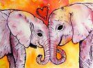 Elephants in Love by stephanie allison