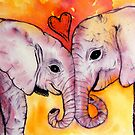 Elephants in Love by stephanie allison