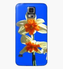 Narzissen-Trio auf Royal Blue Background Hülle & Klebefolie für Samsung Galaxy