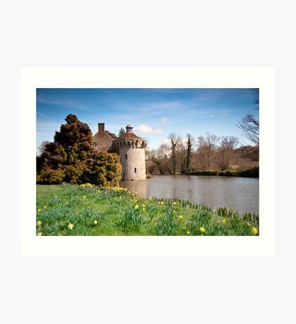 Springtime at Scotney Castle: Kent Art Print