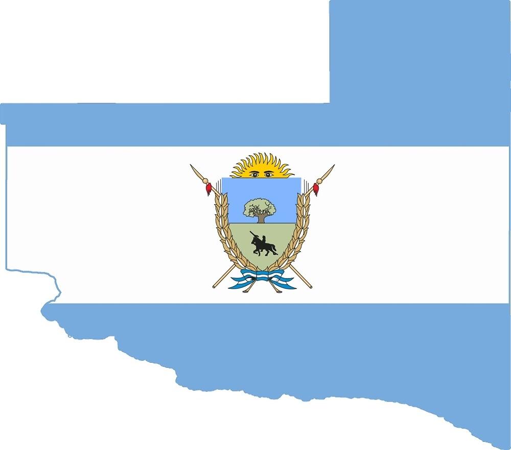 Flag Map of La Pampa Province by abbeyz71