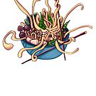 Udon Oooodon Monster Noodles by kikoeart
