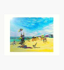 Beach art ... be23 Art Print