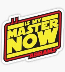 JJ Is My Master Now Sticker