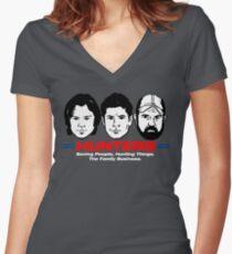 SPN Boys Women's Fitted V-Neck T-Shirt
