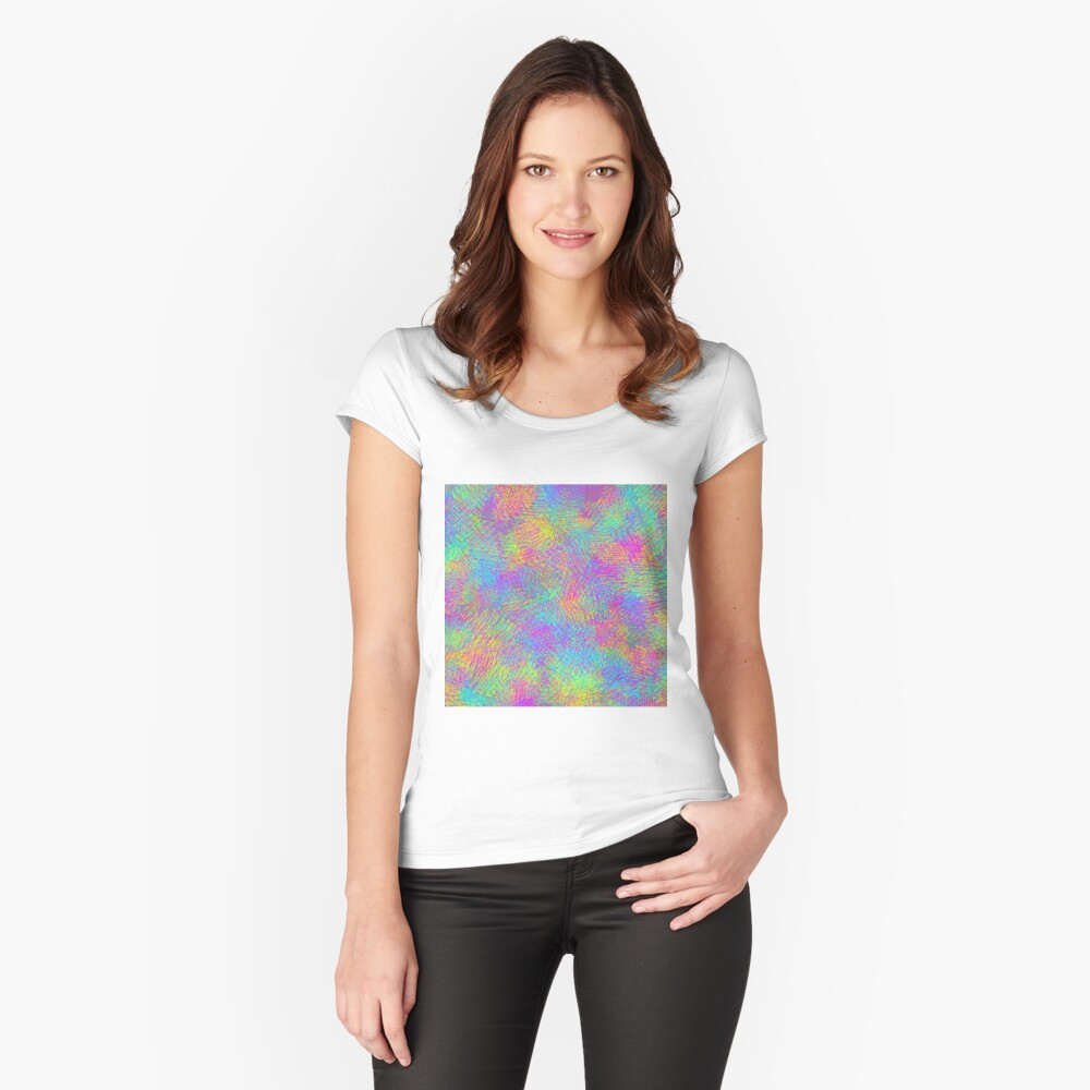 Abstract grey Fitted Scoop T-Shirt