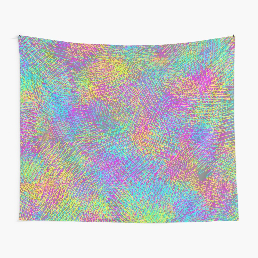 Abstract grey Wall Tapestry