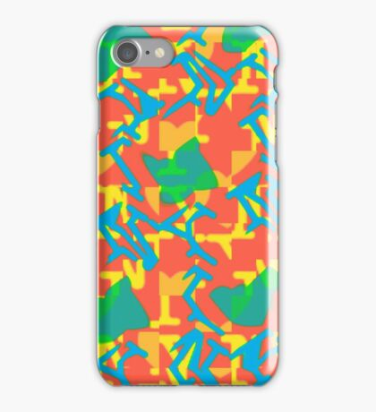 Pop Art Abstract RR iPhone Case/Skin