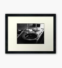 Black & White Ashtray Framed Print