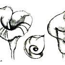 Study to lily calla by Madalena Lobao-Tello