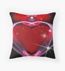 Egyptian Heart Container Throw Pillow