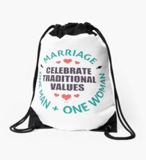 Celebrate Traditional Values Drawstring Bag