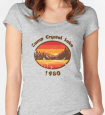 Camp Crystal Lake - Friday 13th Women's Fitted Scoop T-Shirt
