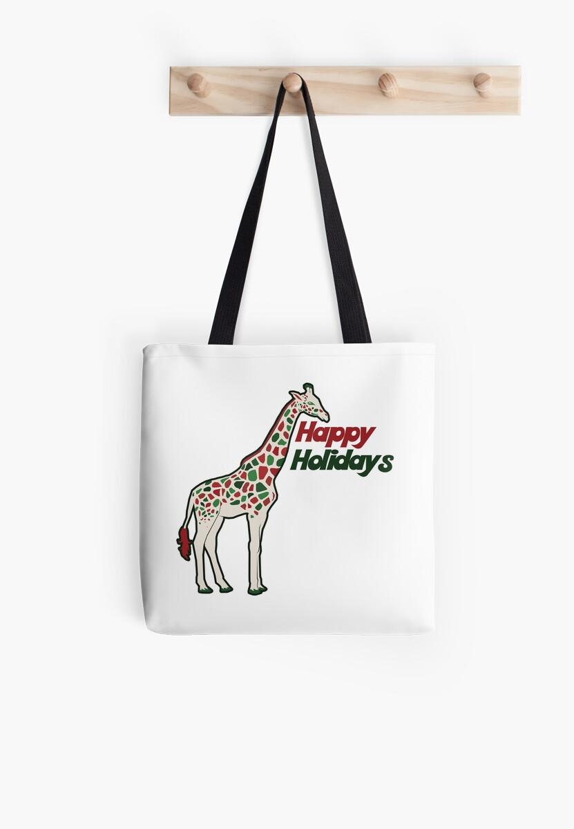 Happy Holidays giraffe lover by BubbSnugg LC