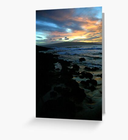 Makena Beach Sunset Greeting Card