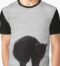 Black Cat, Witch's Familiar Graphic T-Shirt