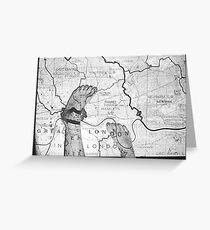 Body Maps - London - Feet Greeting Card
