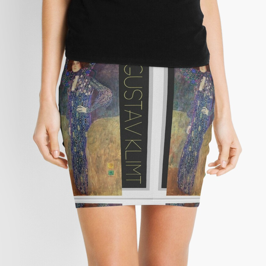 Art Nouveau Jugendstil by Gustav Klimt Mini Skirt