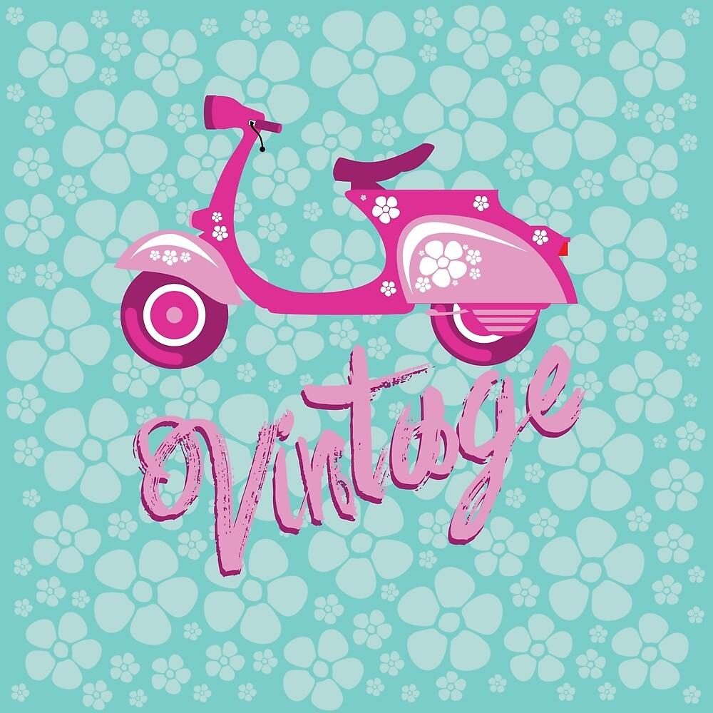 Vintage moto by Tony Vazquez