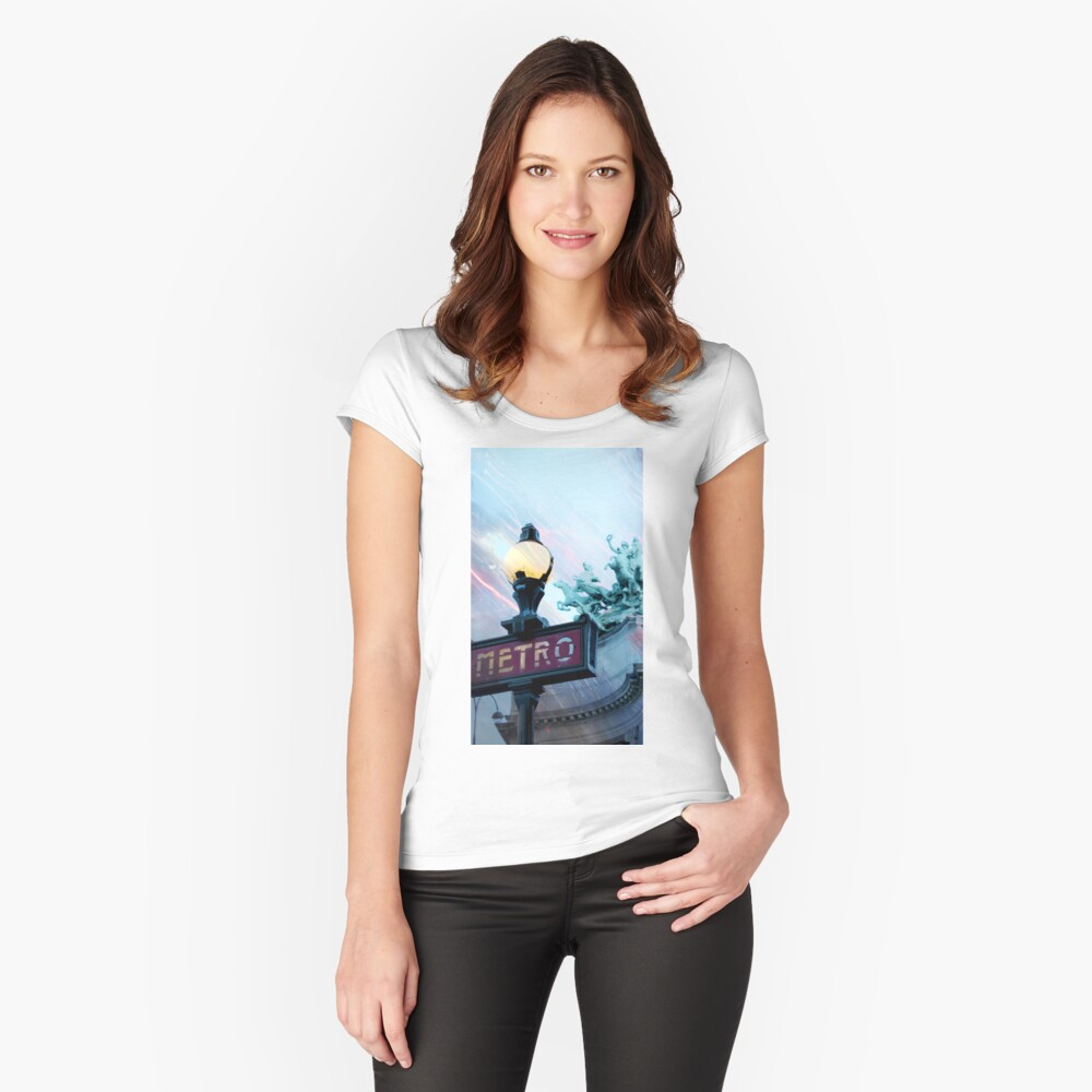 City Mystic • Paris Charioteer Women's Fitted Scoop T-Shirt Front
