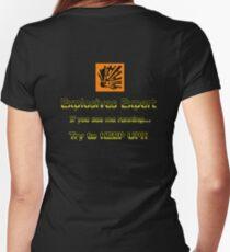 Explosives Expert Women's Fitted V-Neck T-Shirt