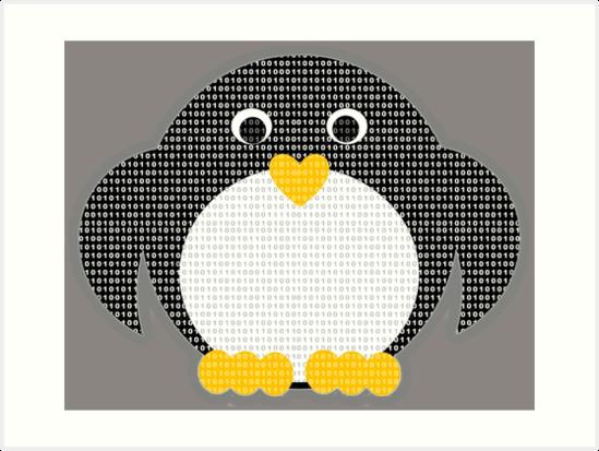 Penguin - Binary Tux by BagChemistry
