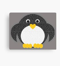 Penguin - Binary Tux Canvas Print