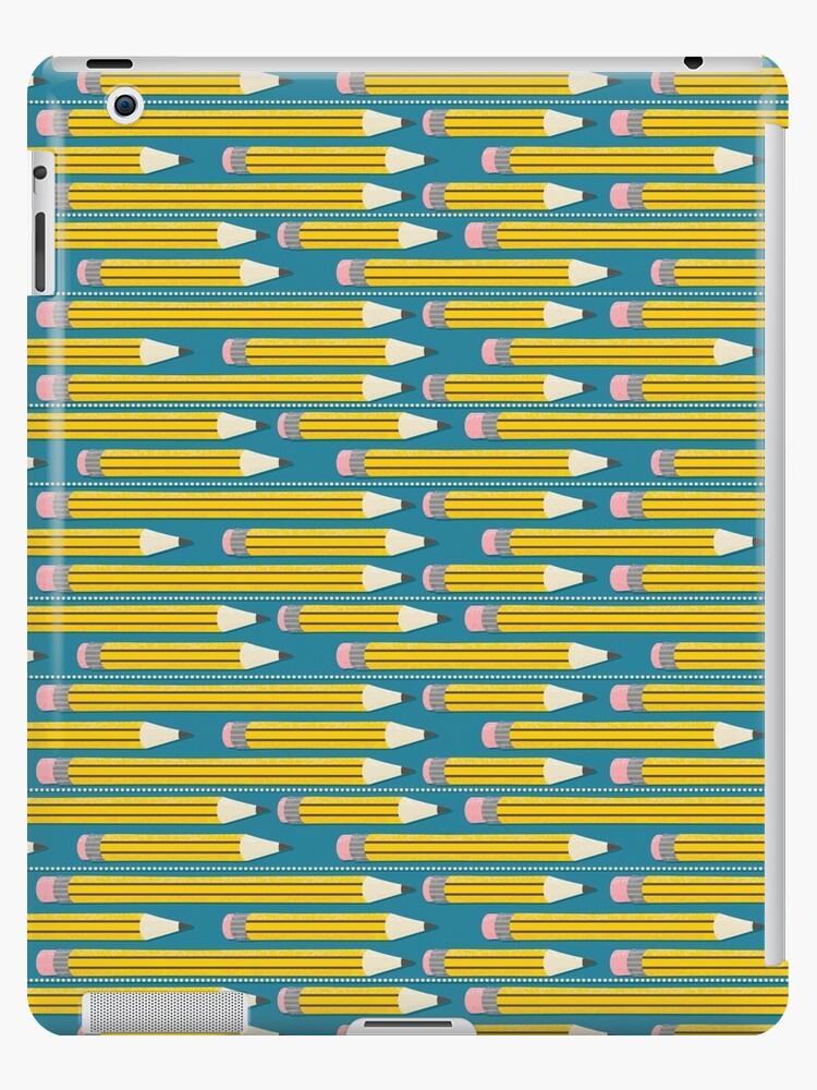 «Patrón de lápiz - lápices escolares amarillos» de penguin2peacock